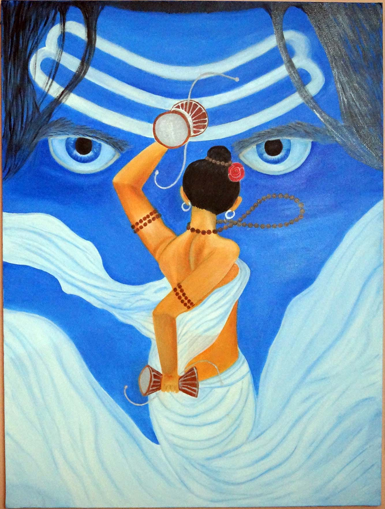 Shiva and Shakti - Oil on canvas
